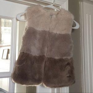 Mayoral Girl Faux Fur Vest